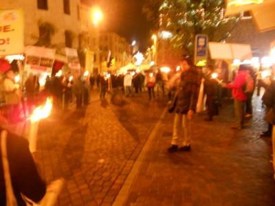 03 dicembre 2011 Trento fiaccolata per denunciare lo sterminio degli animali nel periodo natalizio (e non solo!) 112