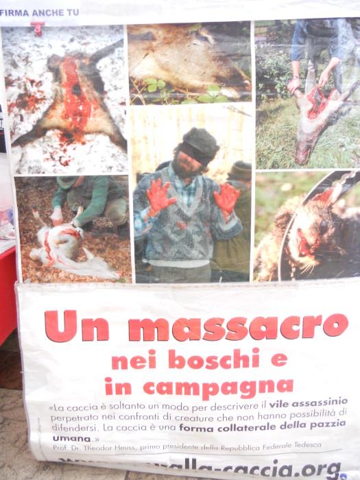 03 dicembre 2011 Trento fiaccolata per denunciare lo sterminio degli animali nel periodo natalizio (e non solo!) 302