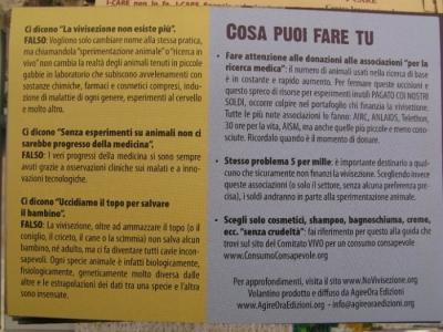 TRENTO - 12.03.2011 - TAVOLO INFORMATIVO SULLA VIVISEZIONE 39