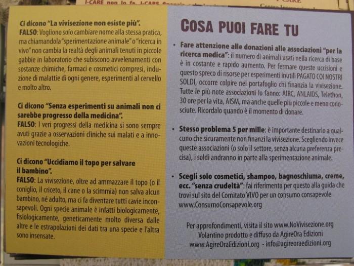 TRENTO - 12.03.2011 - TAVOLO INFORMATIVO SULLA VIVISEZIONE 141