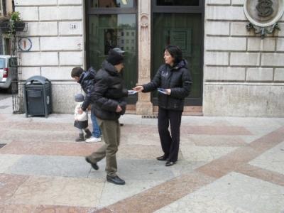 TRENTO - 12.03.2011 - TAVOLO INFORMATIVO SULLA VIVISEZIONE 48