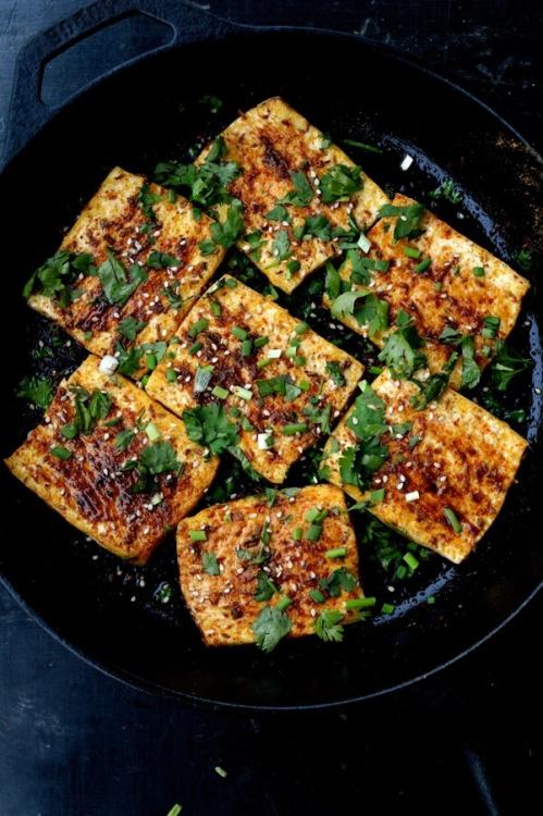 "yummyinmytumbly: Spicy Griddled Tofu ""Steaks"" 4"