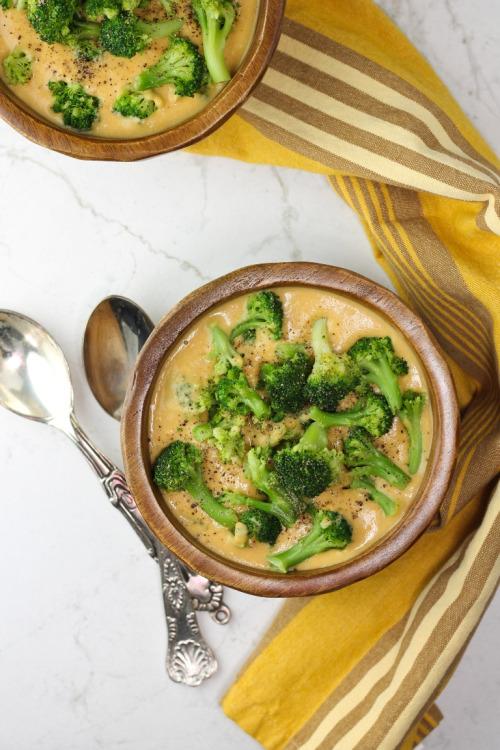 circle-v: Sweet Potato Broccoli Cheese Soup 19