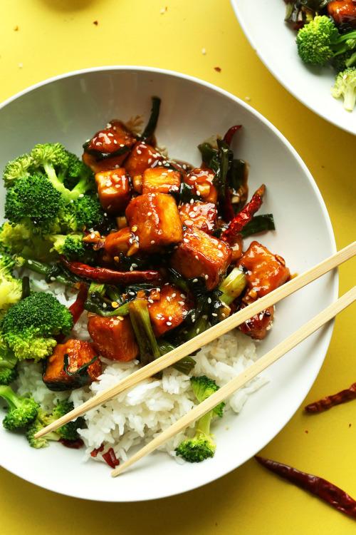 circle-v: General Tso's Tofu Stir Fry 13