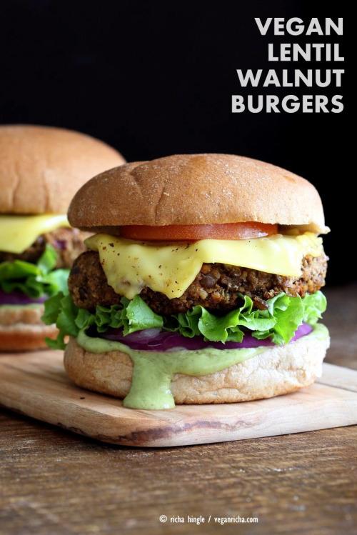 circle-v: Lentil Walnut Burgers 22