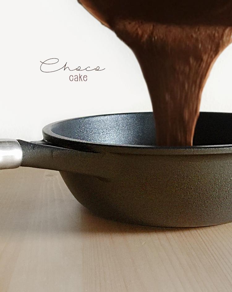 Torta al cioccolato e arancia cotta in padella 1