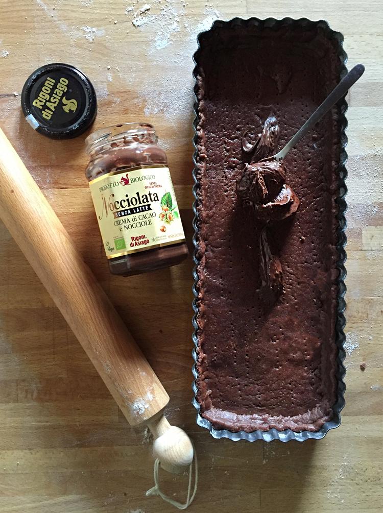 Crostata al cacao con Nocciolata e pere 4