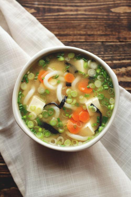 garden-of-vegan: Miso udon noodle soup - shiro miso + soy sauce... 22