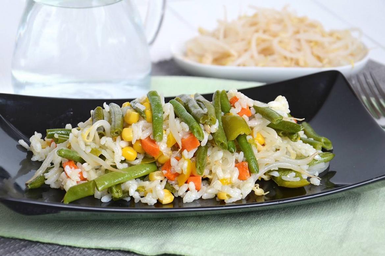 Insalata di riso vegetariana 1