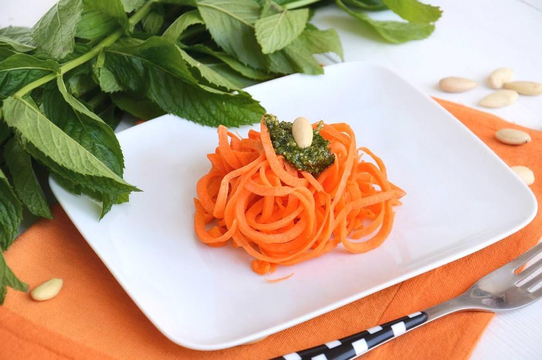 Spaghetti di carote alla menta 7