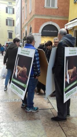 """""""A PASQUA NON UCCIDO"""" Manifestazione di protesta contro la strage pasquale di agnelli e capretti 9"""