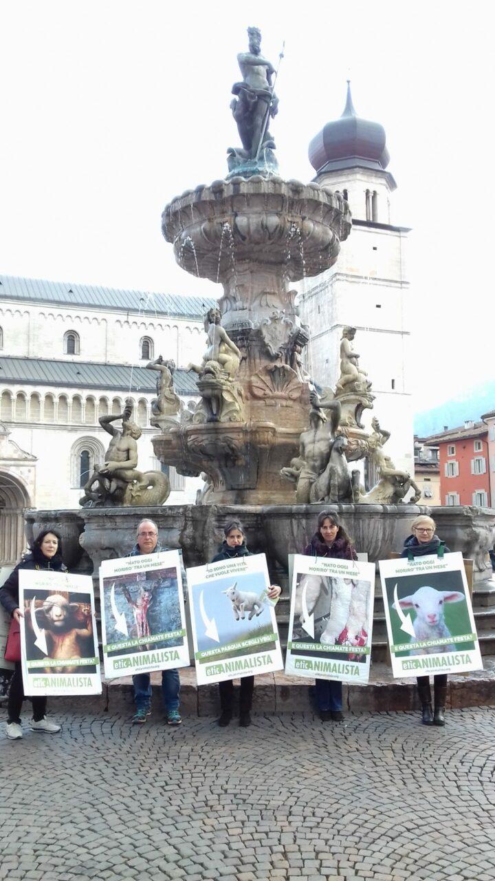 """""""A PASQUA NON UCCIDO"""" Manifestazione di protesta contro la strage pasquale di agnelli e capretti 43"""