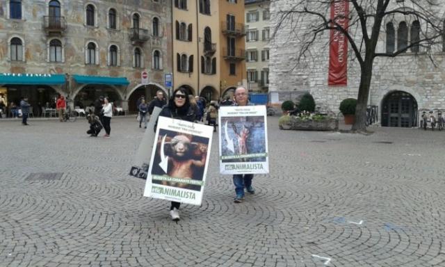 """""""A PASQUA NON UCCIDO"""" Manifestazione di protesta contro la strage pasquale di agnelli e capretti 22"""